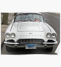Old 1962 Corvette Front Poster