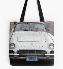 Old 1962 Corvette Front Tote Bag