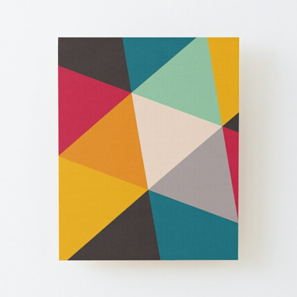 Triangles (2012) Wood Mounted Print