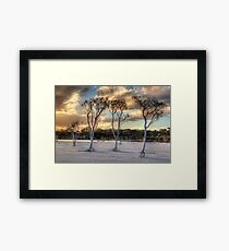 Sunset At Lake Poorrarecup # 2 Framed Print