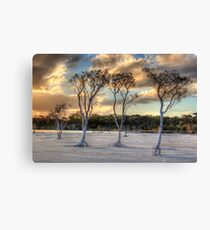 Sunset At Lake Poorrarecup # 2 Canvas Print