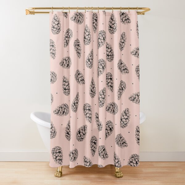 Pink cones. Shower Curtain