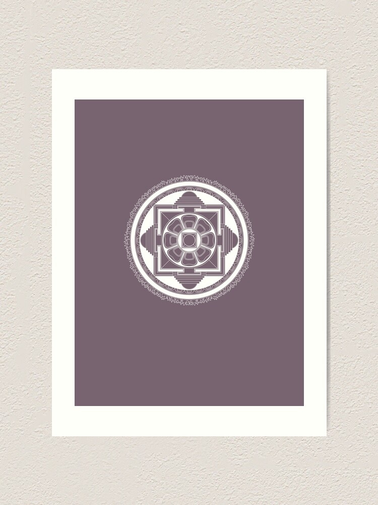 Alternate view of Kalachakra Mandala Art Print