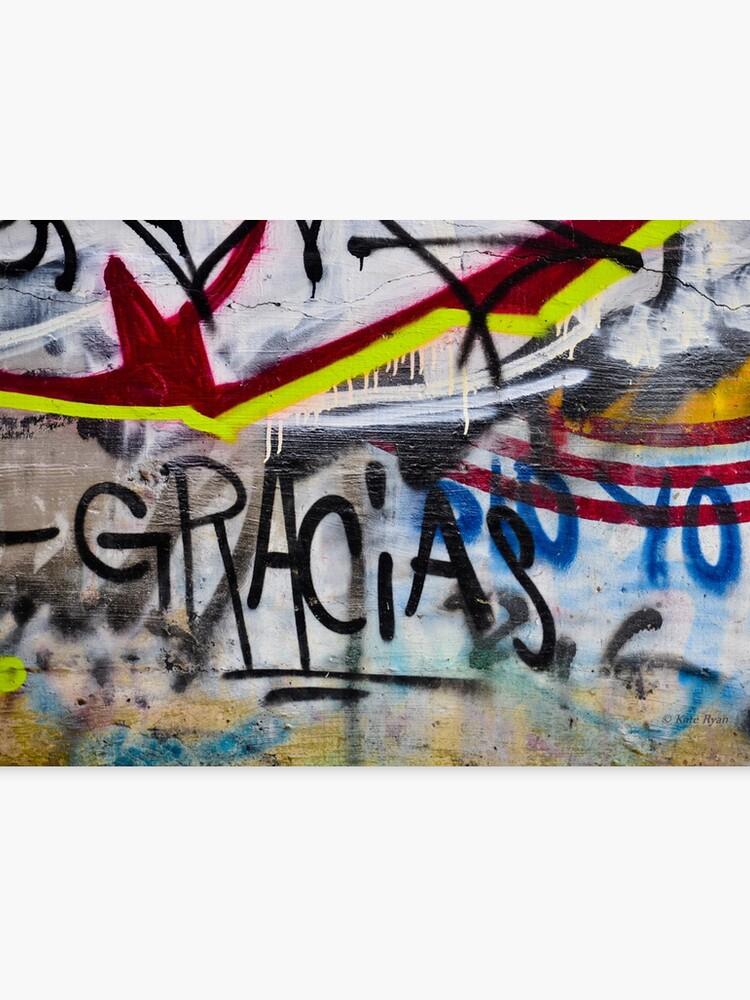 Abstract Graffiti Wall Art Photography Gracias Canvas Print