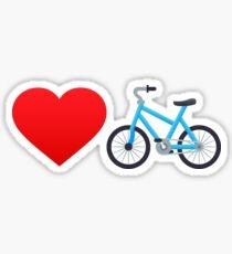 Love cycling! Sticker