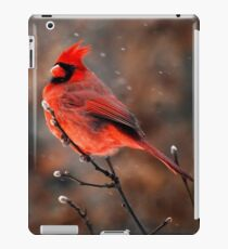 Cardinal in a Snowstorm iPad Case/Skin