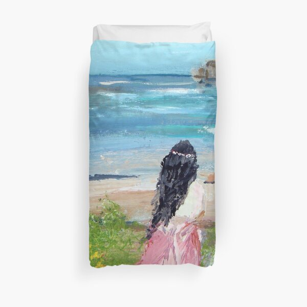 By The Shore By Colleen Ranney Duvet Cover