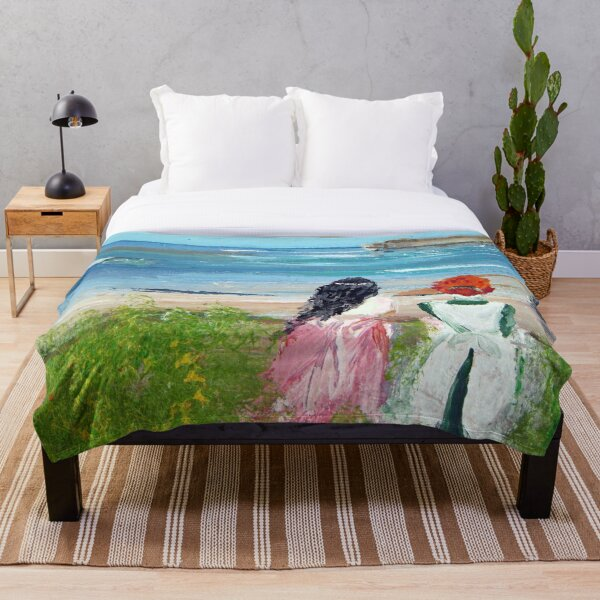 By The Shore By Colleen Ranney Throw Blanket