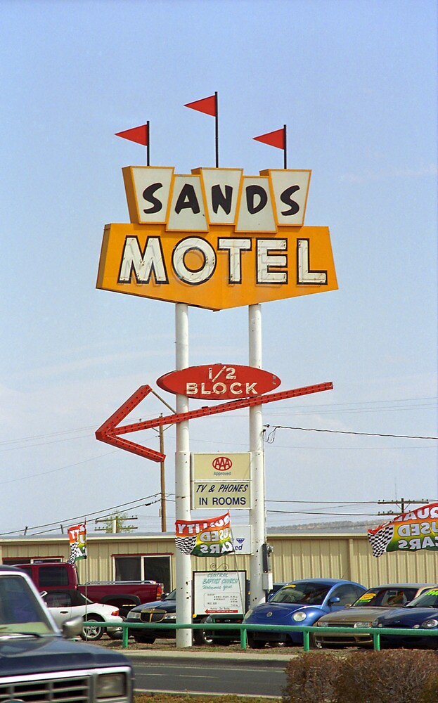 Route 66 Sands Motel by Frank Romeo