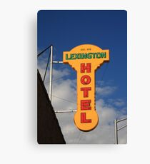 Route 66 - Lexington Hotel Canvas Print