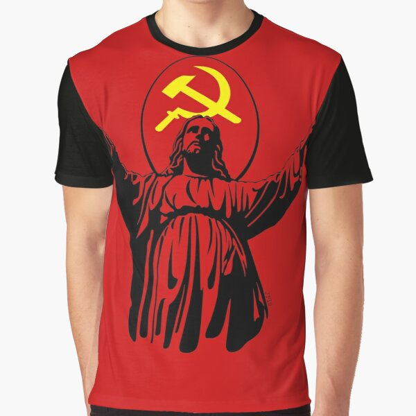 Commie Jesus - Red Graphic T-Shirt