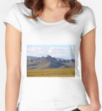 Dramatic Mongolia Women's Fitted Scoop T-Shirt
