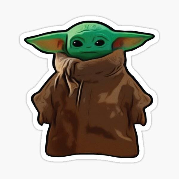Grogu The Child Sticker By Vmaki Redbubble The best gifs are on giphy. redbubble