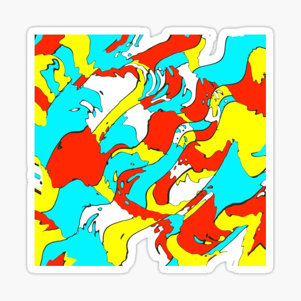 Party camouflage Sticker