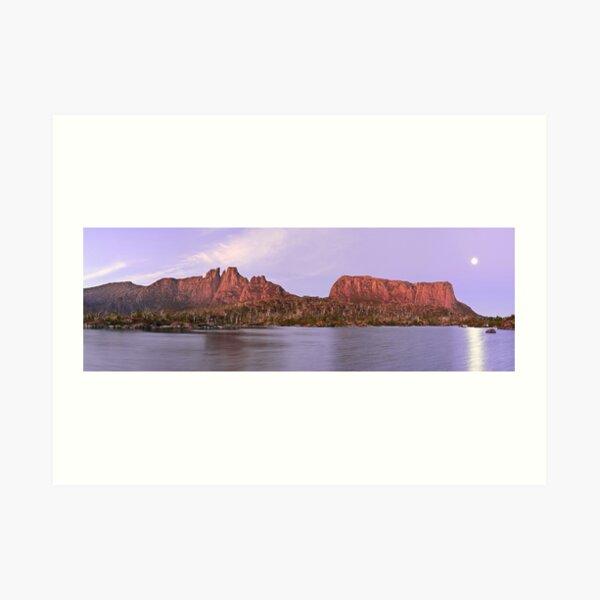 Labyrinth Moonrise, Lake St Clair National Park, Tasmania Art Print