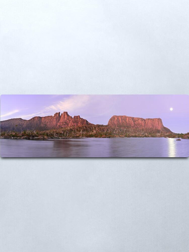 Alternate view of Labyrinth Moonrise, Lake St Clair National Park, Tasmania Metal Print