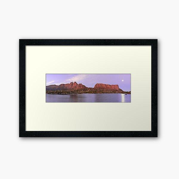 Labyrinth Moonrise, Lake St Clair National Park, Tasmania Framed Art Print