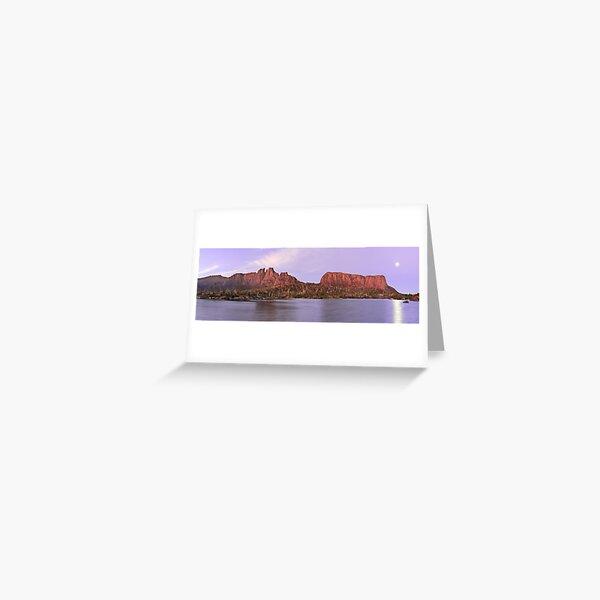 Labyrinth Moonrise, Lake St Clair National Park, Tasmania Greeting Card