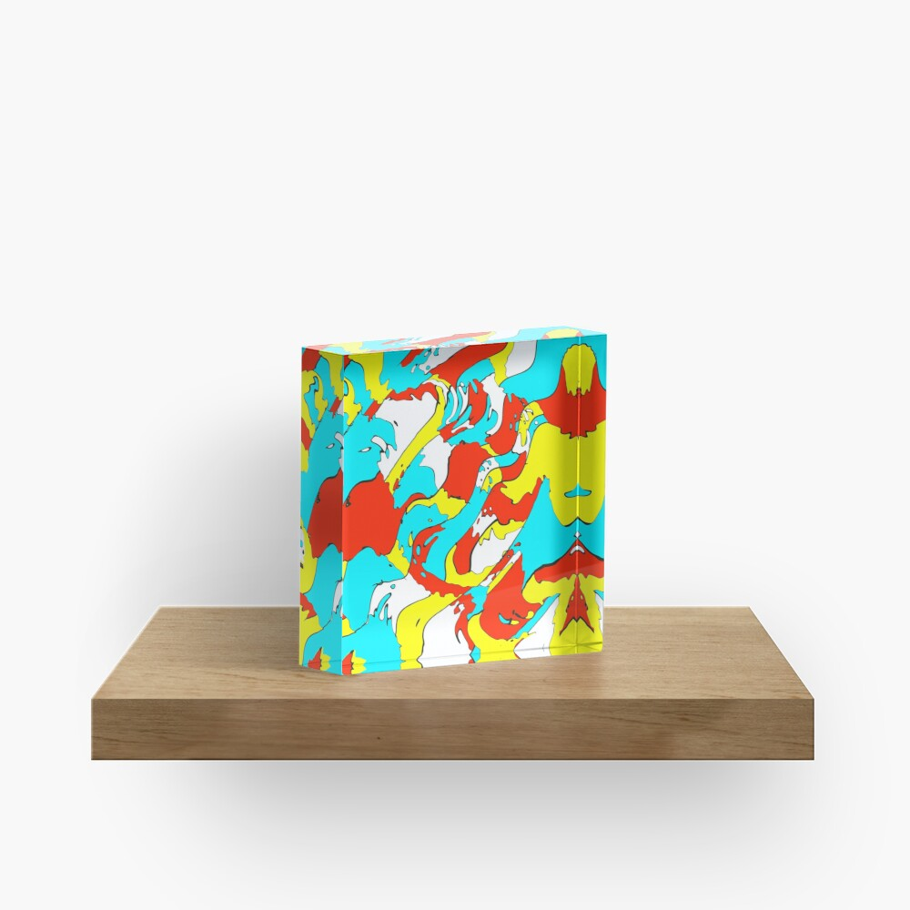 Party camouflage Acrylic Block