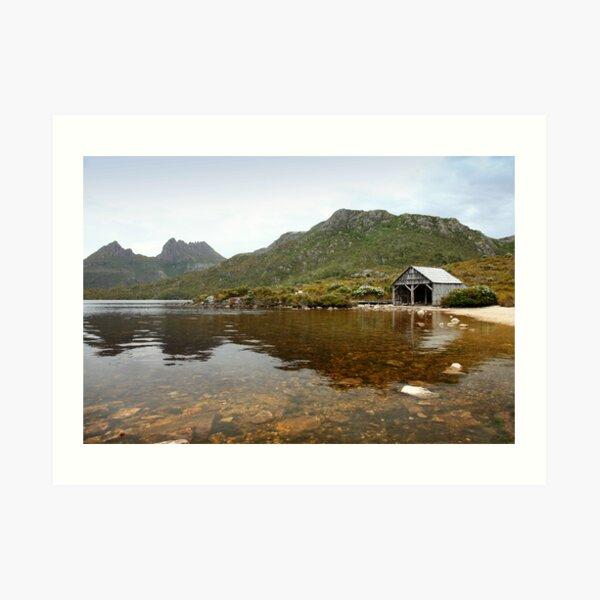 Cradle Mountain, Dove Lake reflections Art Print