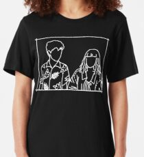 The End of the F***ing World Line Aesthetic Illustration Slim Fit T-Shirt