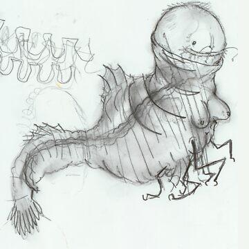 crazy prawnbeast by Benlyksmonsters