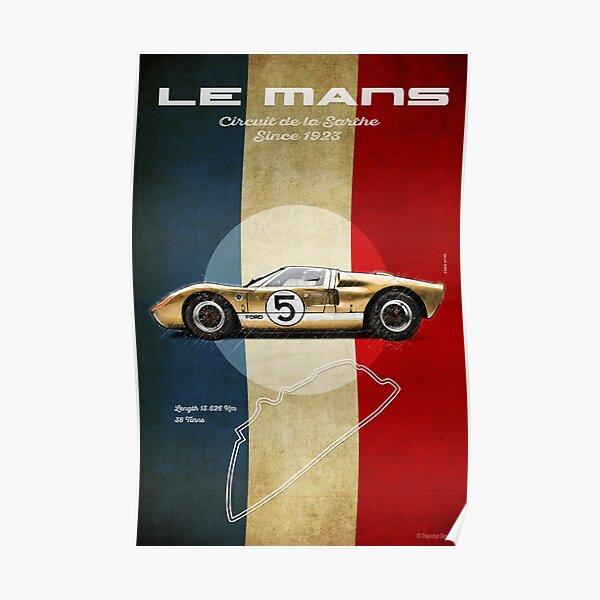 Le Mans Vintage GT Póster