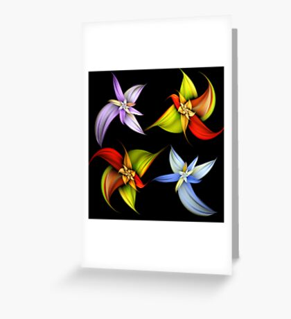 Lily Montage Greeting Card