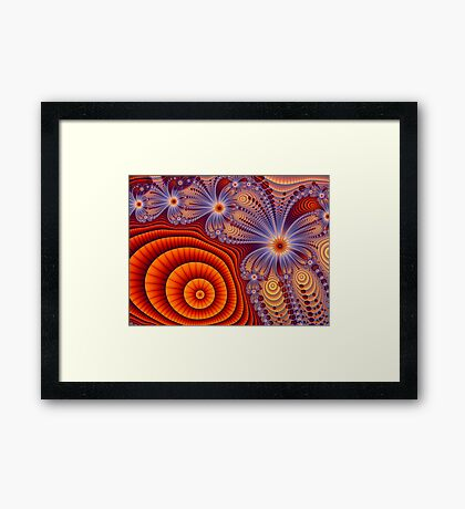 Orange Lace Dream Framed Print