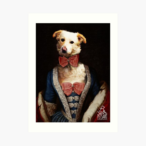 LADY DOG Art Print