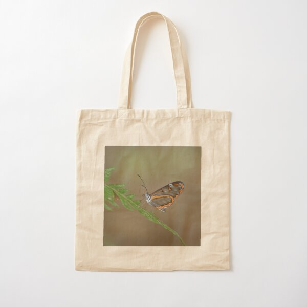 Peruvian Glass Butterfly Cotton Tote Bag
