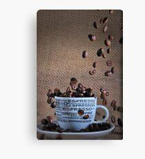 Coffee beans rain Canvas Print