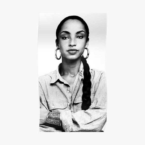 Sade, Black and White Portrait Poster
