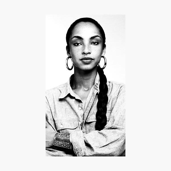Sade, Black and White Portrait Photographic Print