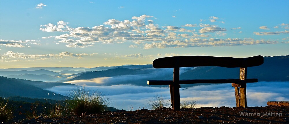 Sit and take in the view.. by Warren  Patten