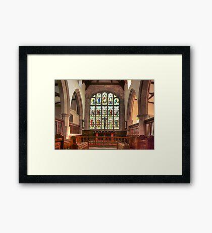 The Altar Window Framed Print