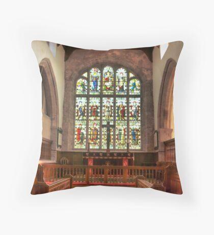 The Altar Window Throw Pillow