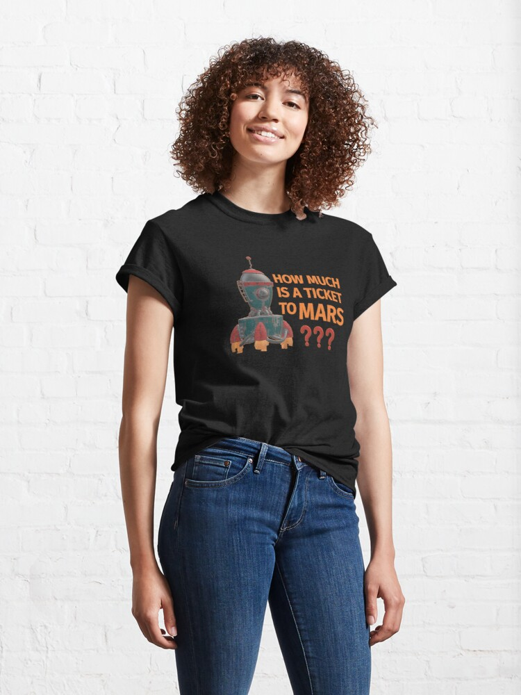Alternate view of Ticket to Mars. Classic T-Shirt