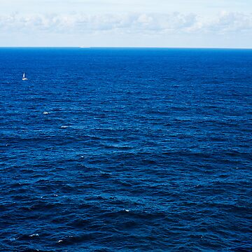Sailboat, Two Whales Breaching, A Distant Oil Tanker and The Deep Blue Sea de LonelyMinstrel