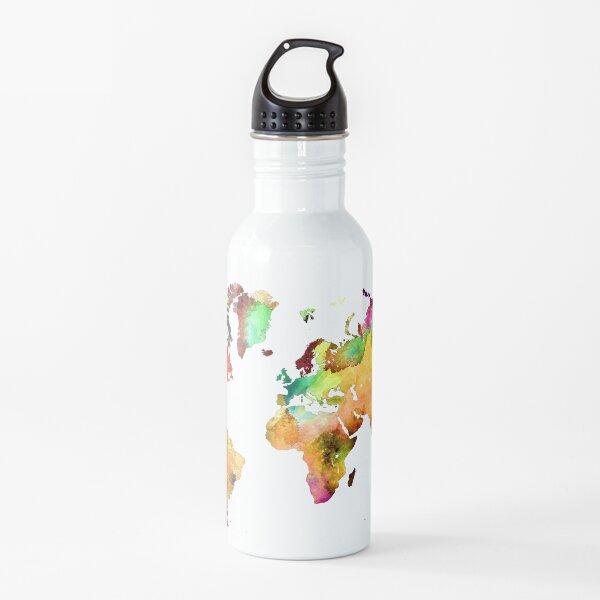 world map 71 #map #worldmap Water Bottle
