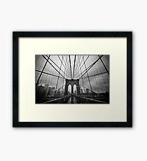 Rainy Brooklyn Bridge Framed Print