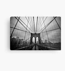 Rainy Brooklyn Bridge Metal Print