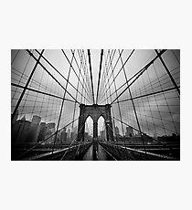 Rainy Brooklyn Bridge Photographic Print