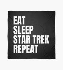 Eat Sleep Star Trek Repeat Scarf