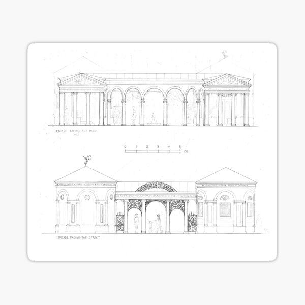 Classical Pavillion Sticker