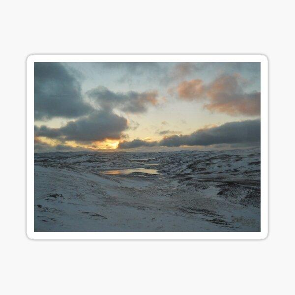 Norwegian Winter Sunset Landscape Sticker