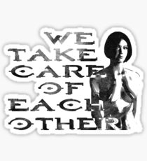 HALO Cortana We Take Care of Each Other Sticker