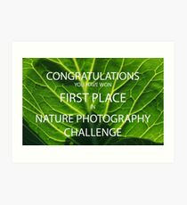NATURE PHOTOGRAPHY CHALLENGE BANNER Art Print