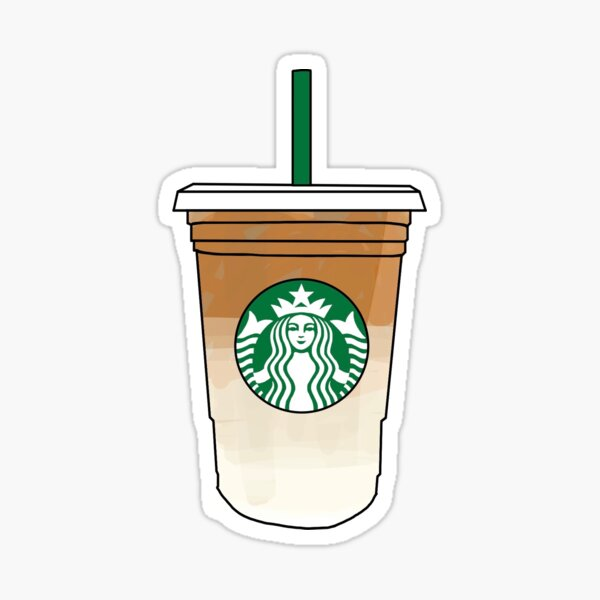 starbucks iced coffee drink Sticker