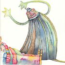 """The monster, illustration of the story """"backpack""""  by vimasi"""